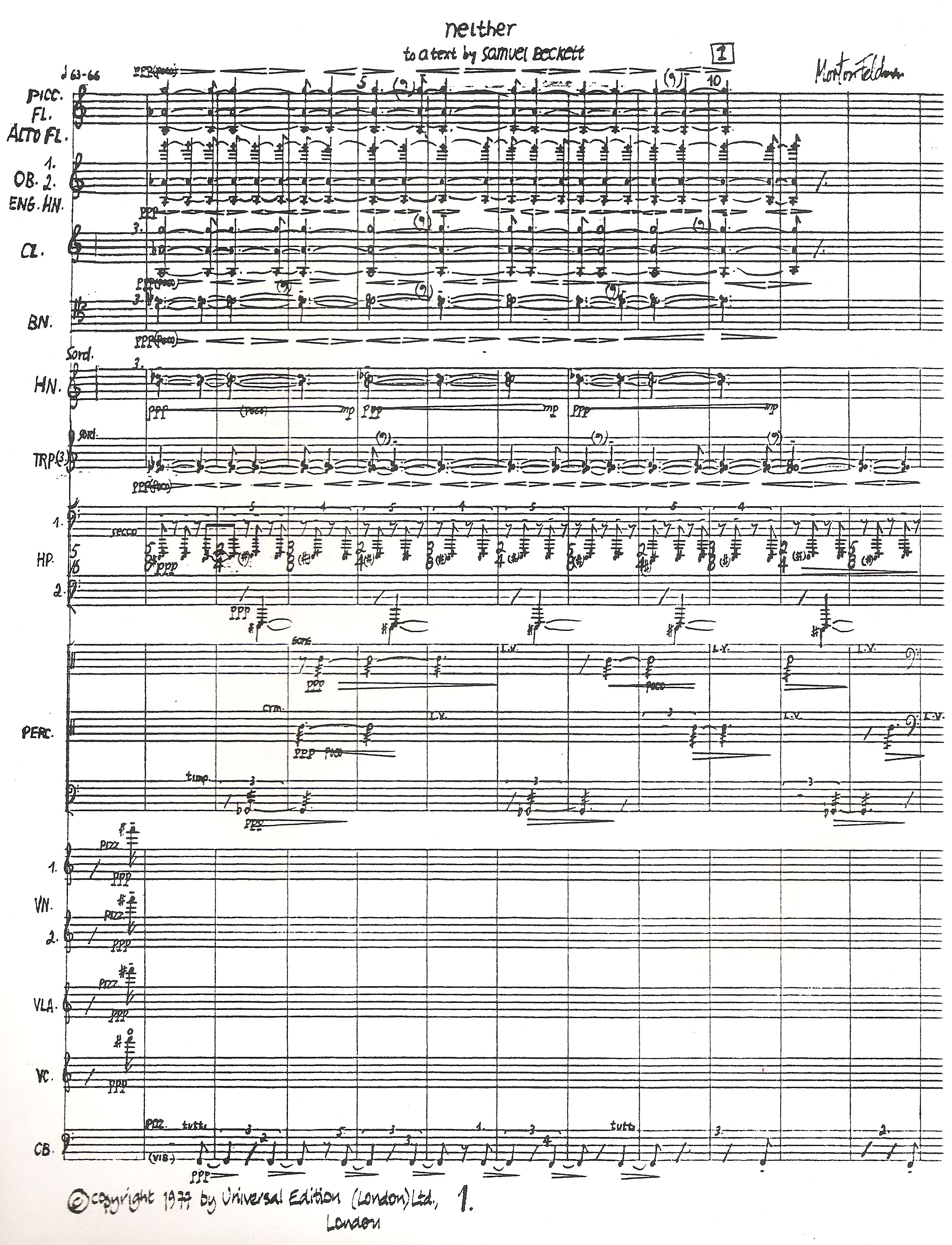 Score of Neither Page 1